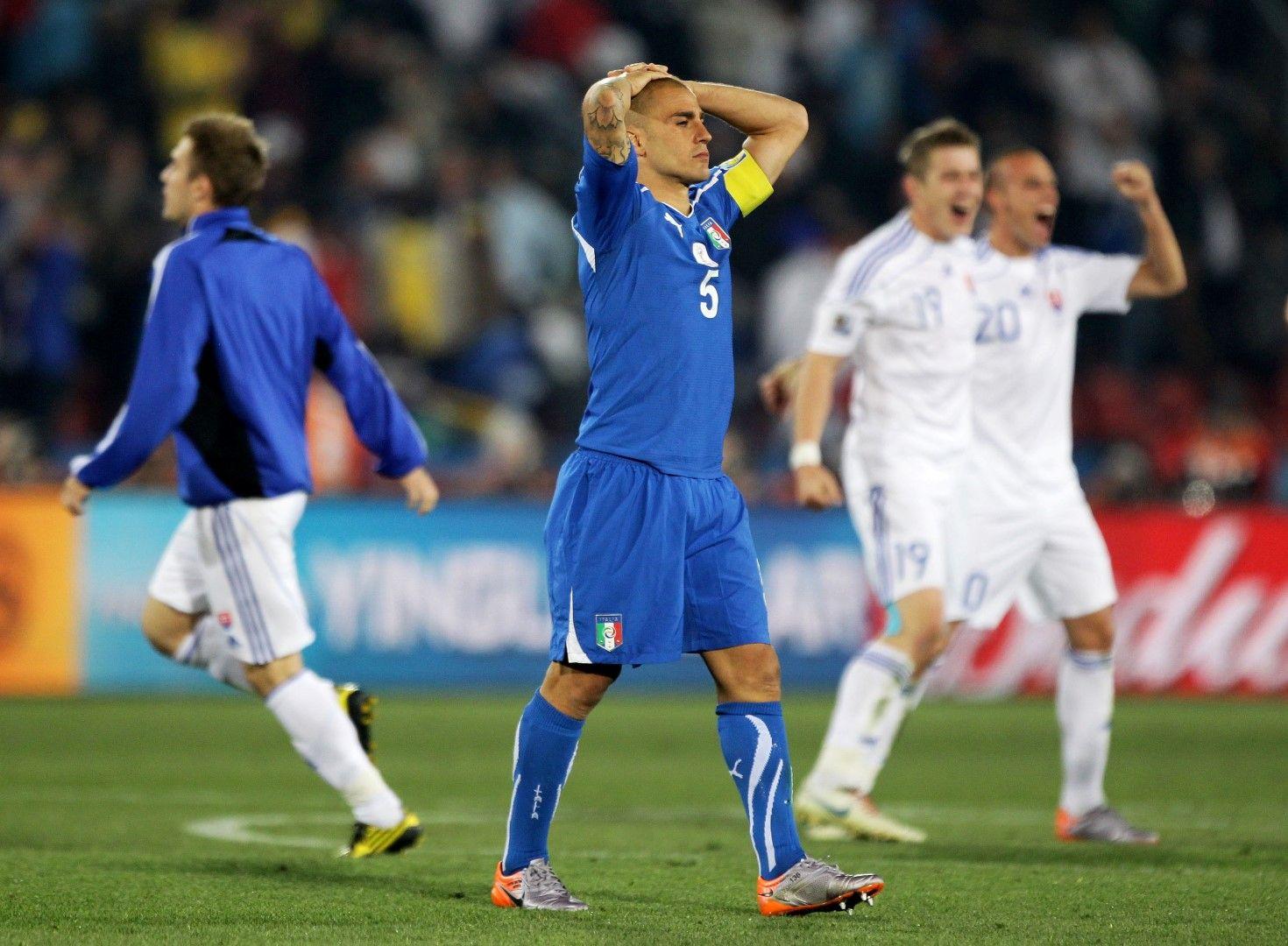 Шампионът си тръгва! Италия отпада на Мондиал 2010.