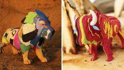 Пъстроцветни играчки от рециклирани джапанки пазят океана