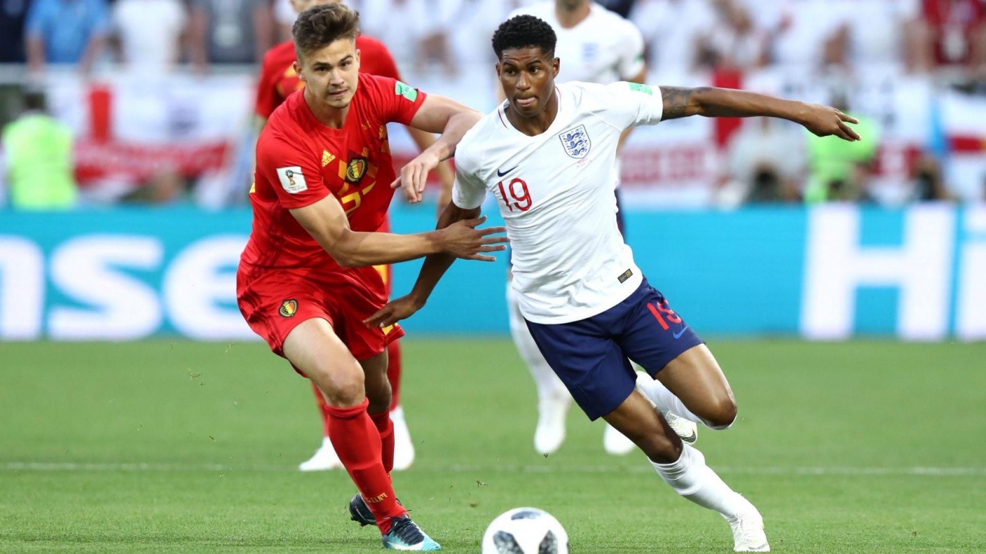 Англия - Белгия 0:1 (статистика)