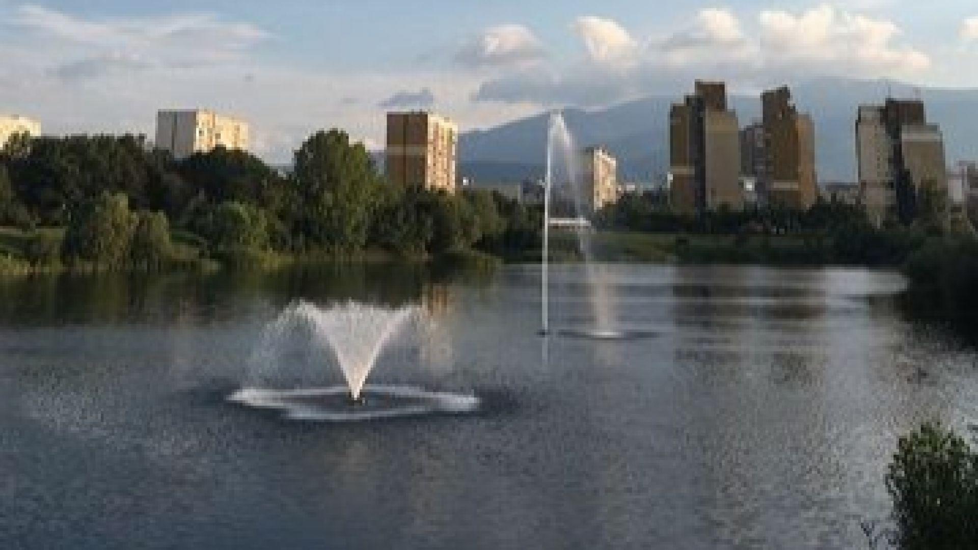 """Нов фонтан в езерото """"Дружба"""""""