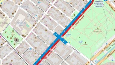 Ремонти блокират движението в центъра на София от юли