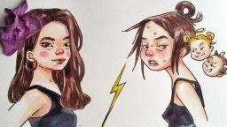 Смях през сълзи в илюстрациите на Йълдъз Бекова за младите майки