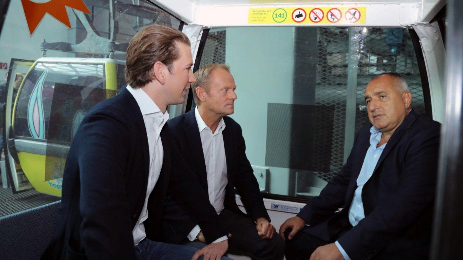 Борисов се срещна с Курц и Туск преди предаването на европредседателството