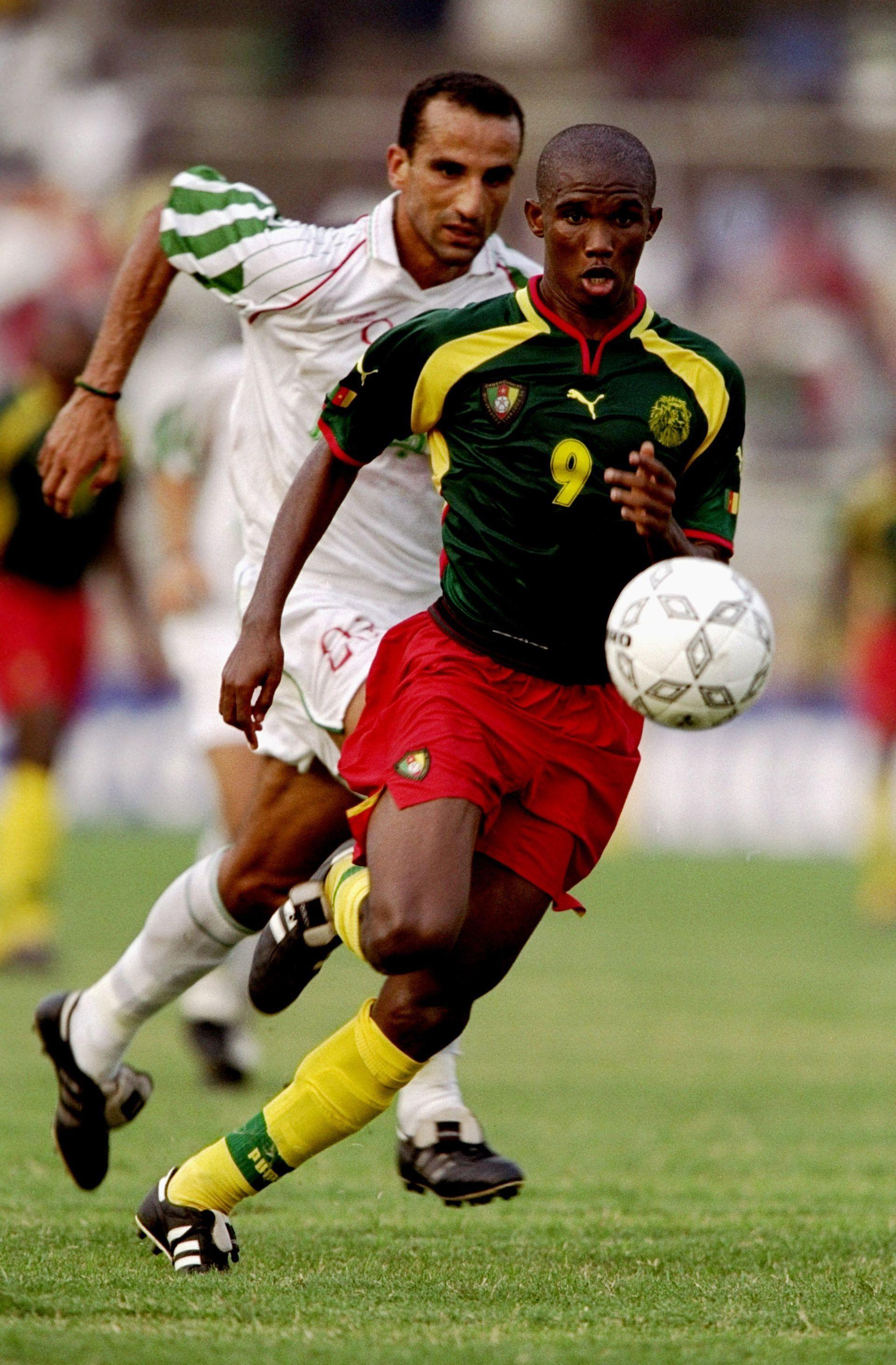 1998 г., Самуел Ето`о с екипа на Камерун