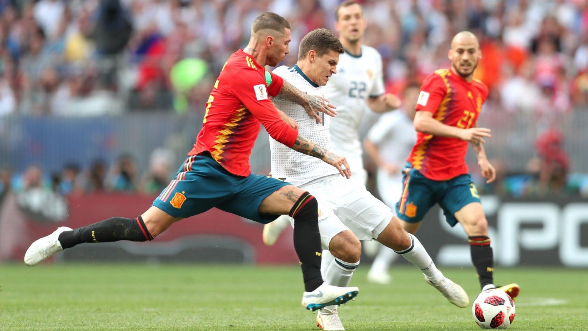 Испания - Русия 1:1 (статистика)