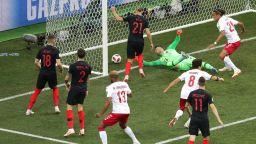Хърватия - Дания 1:1 (статистика)