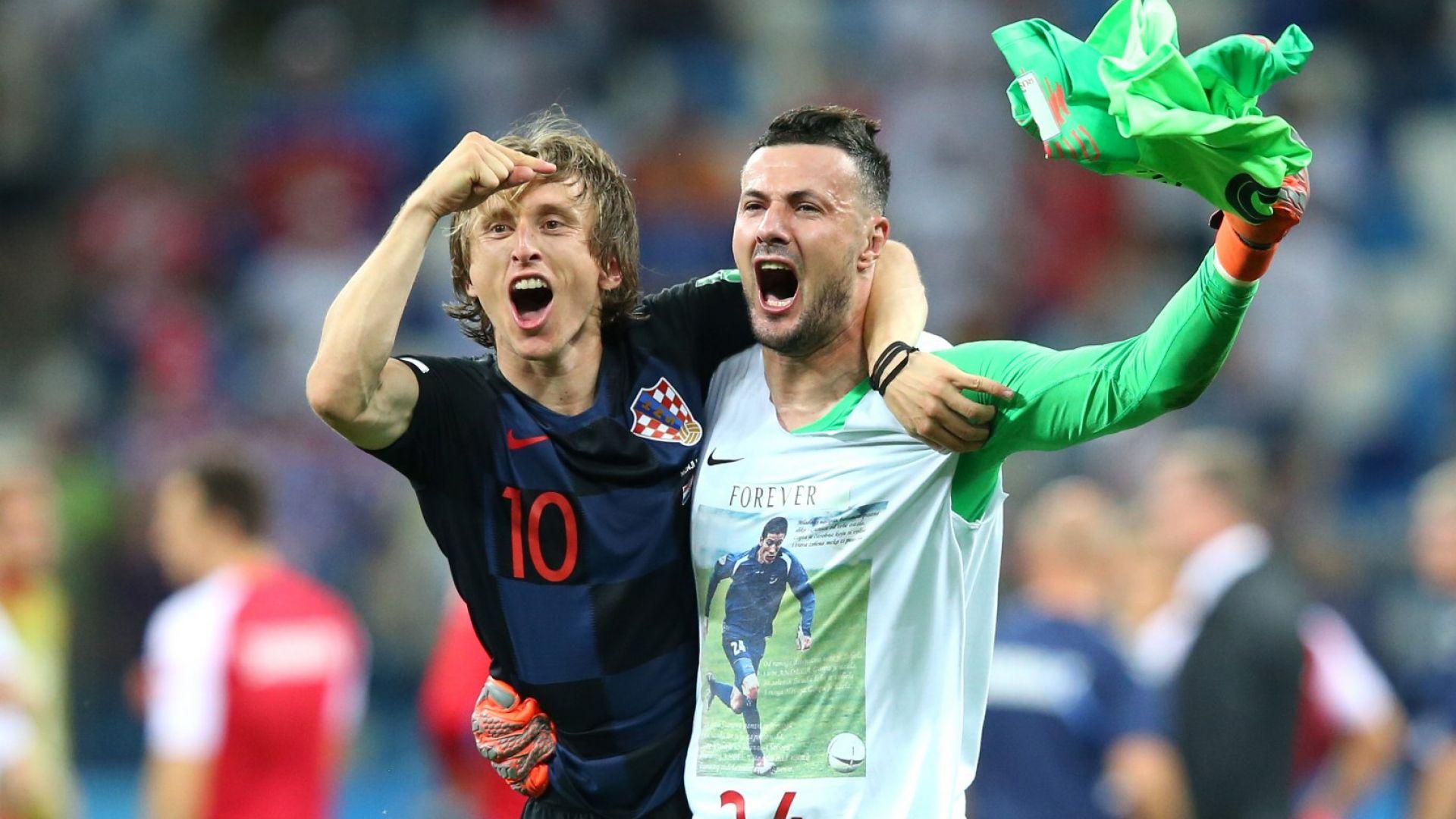 Голям хърватски вратар разплака Дания