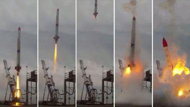 Провалът на една японска ракета (видео)