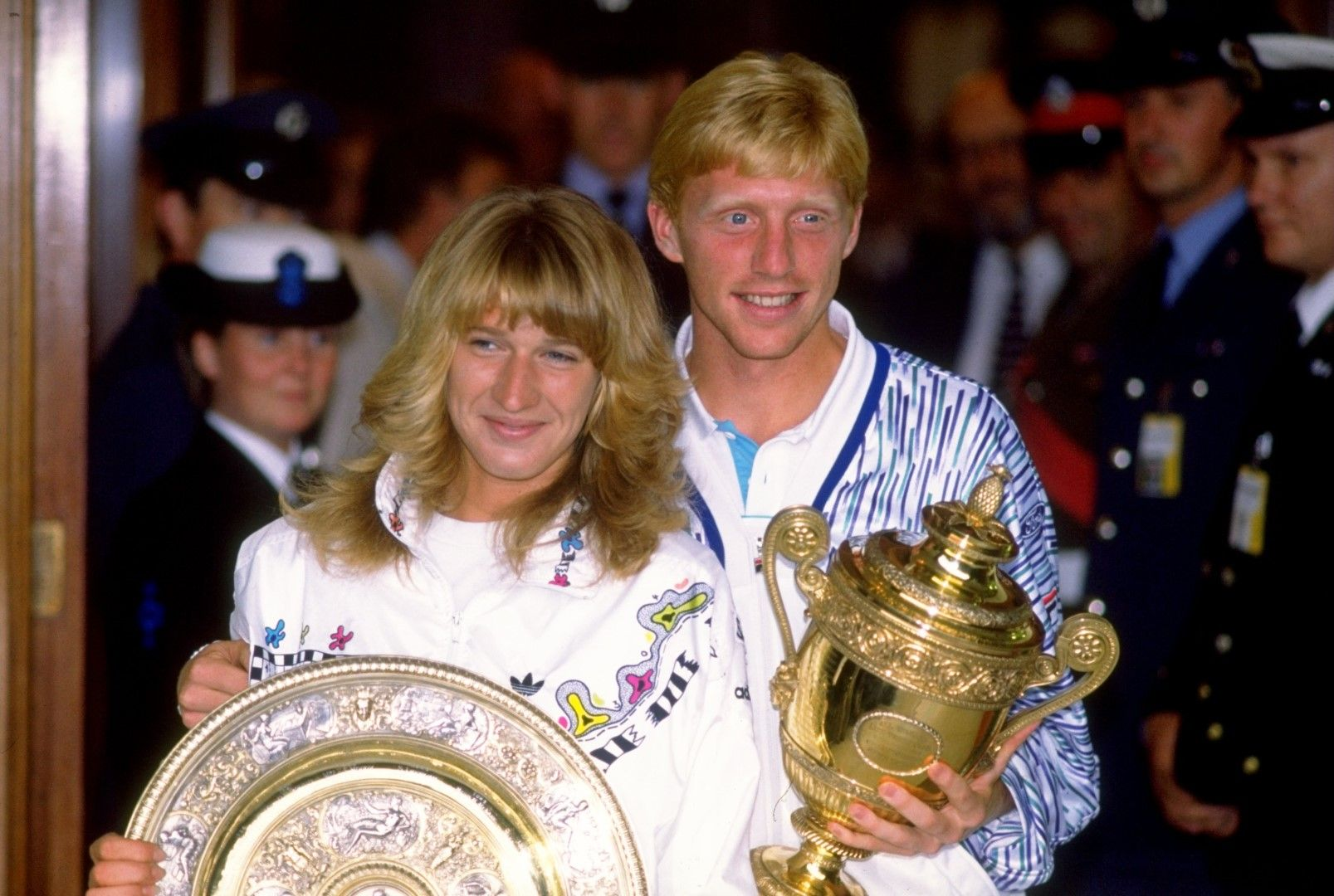 1989 г. Победителите от Германия - Щефи Граф и Борис Бекер