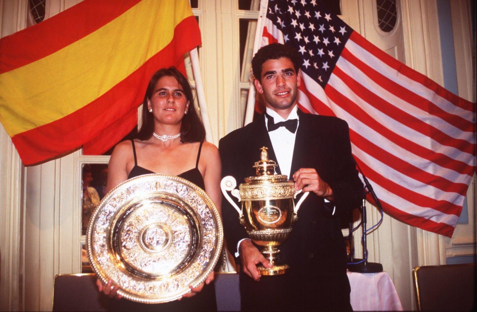 1994 г. Шампионите Пийт Сампрас и Кончита Мартинес