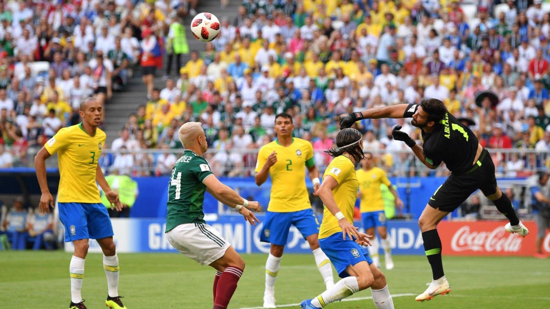 Бразилия - Мексико 2:0 (статистика)