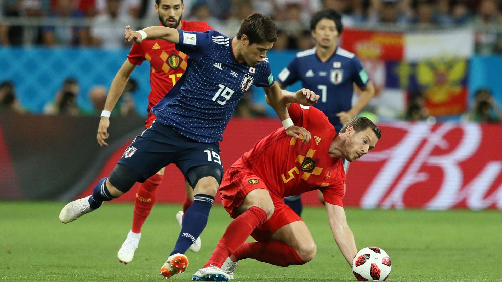 Белгия - Япония 3:2 (статистика)