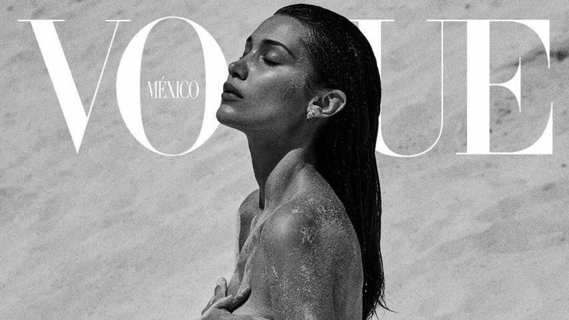 Бела Хадид свали всичко на плажа за Vogue
