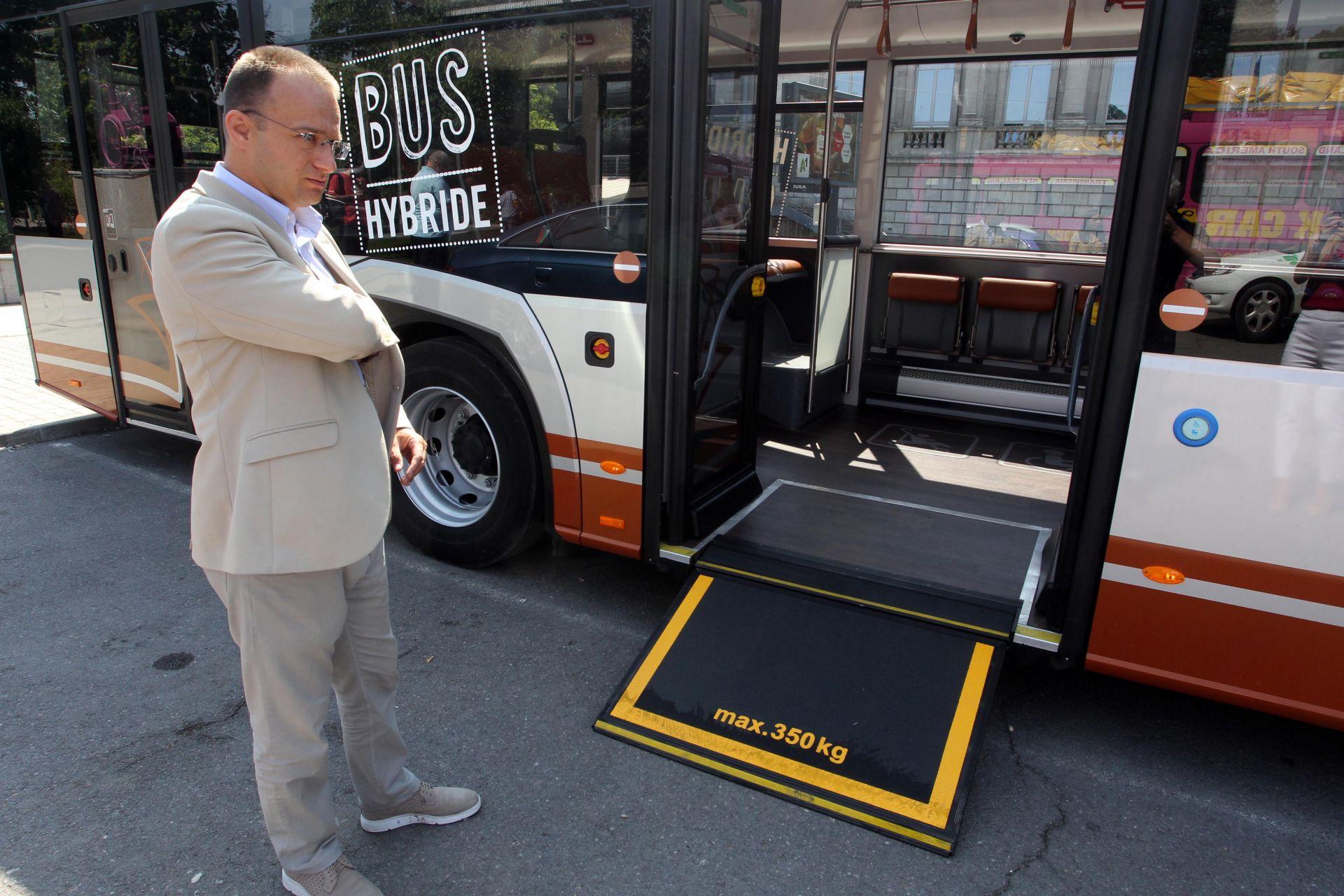 Новият хибриден автобус т