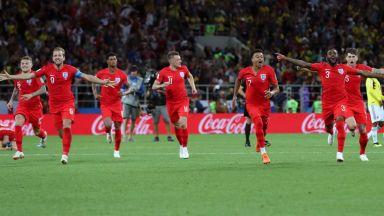Англия прекъсна прокобата на дузпите и се класира на четвъртфинал