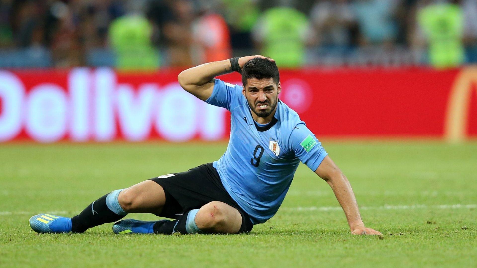 Нови проблеми за Уругвай, Суарес се контузи