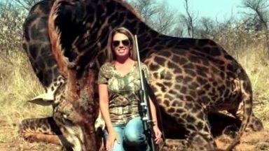 Американка, убила рядък черен жираф в Африка, възмути света