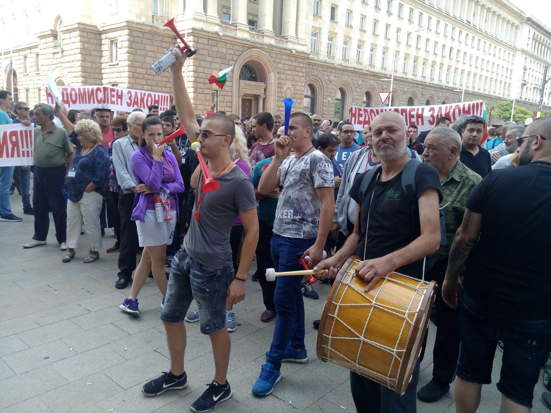 Собствениците на малки бензиностанции излязоха на протест