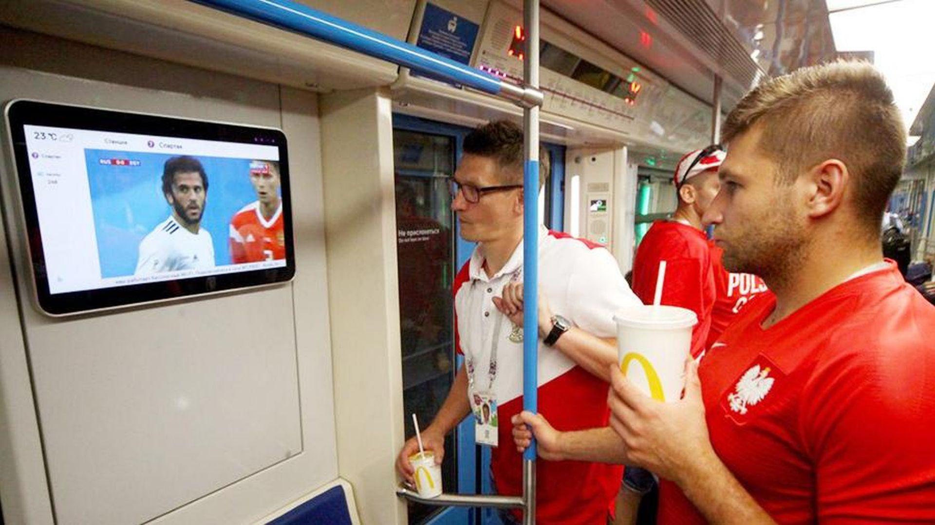 Над 14 милиона души гледали Мондиала в Московското метро