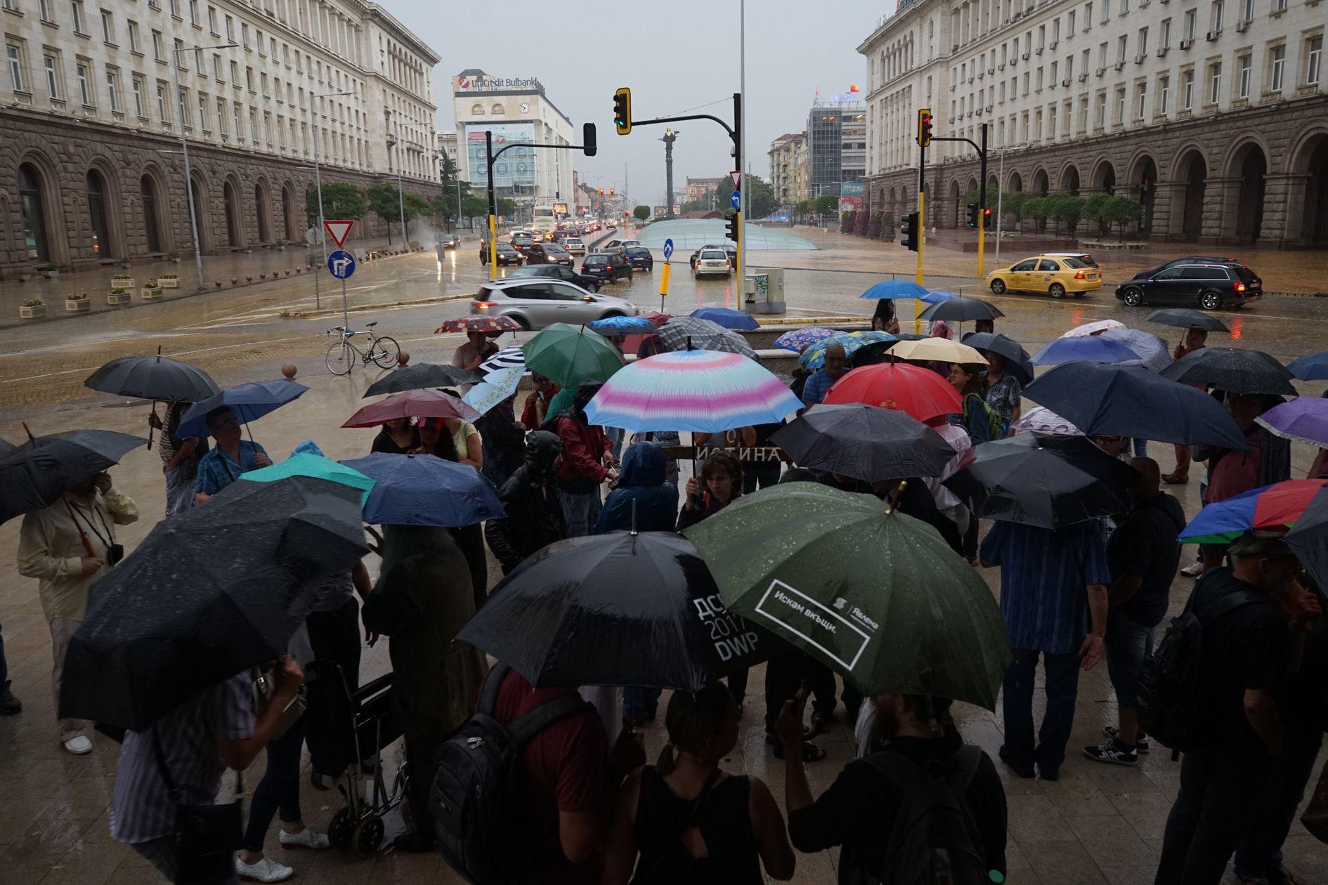 Протест в подкрепа на Николай Колев-Босия