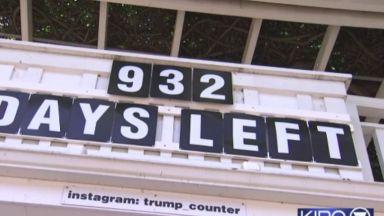 Часовник в Сиатъл брои дните до края на мандата на Тръмп