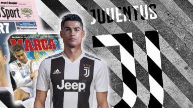 """Решено: Роналдо в """"Ювентус"""" за 100 млн. евро, представят го в събота - 7.07!"""