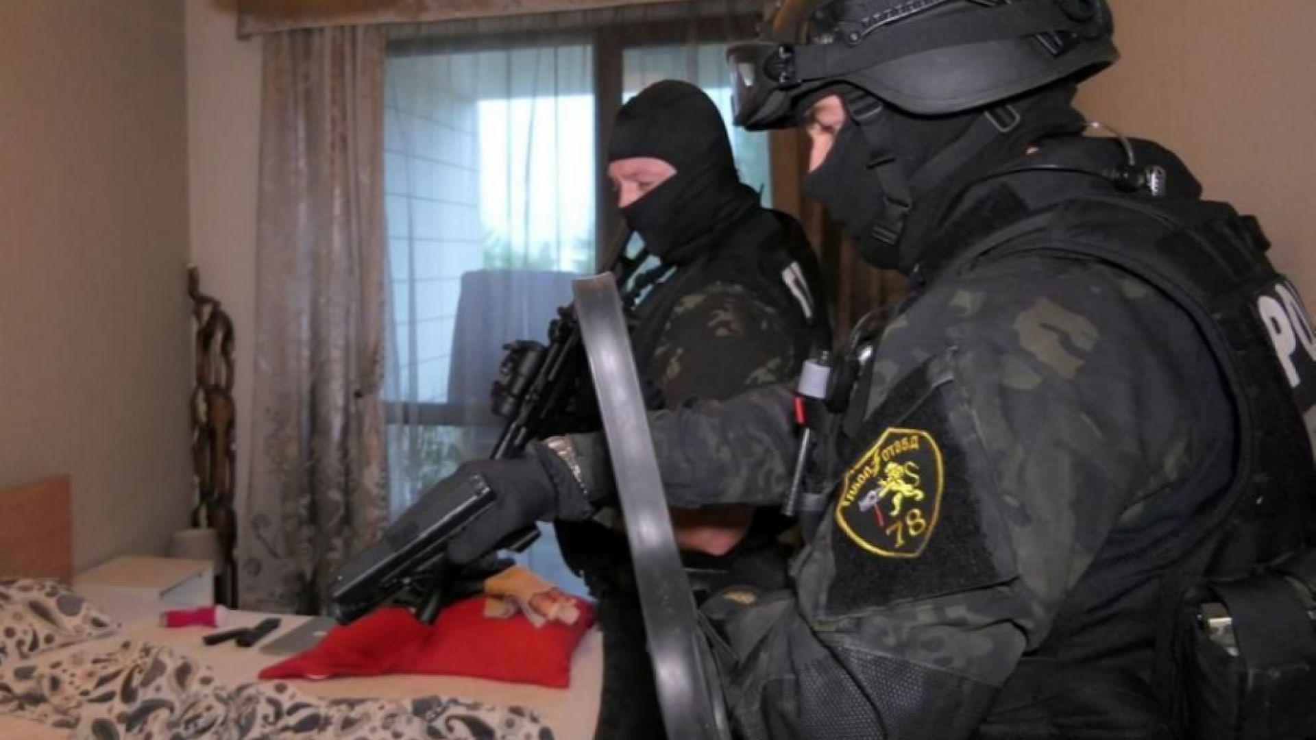 Служителите на ГДБОП са проверили няколко адреса по време на акцията