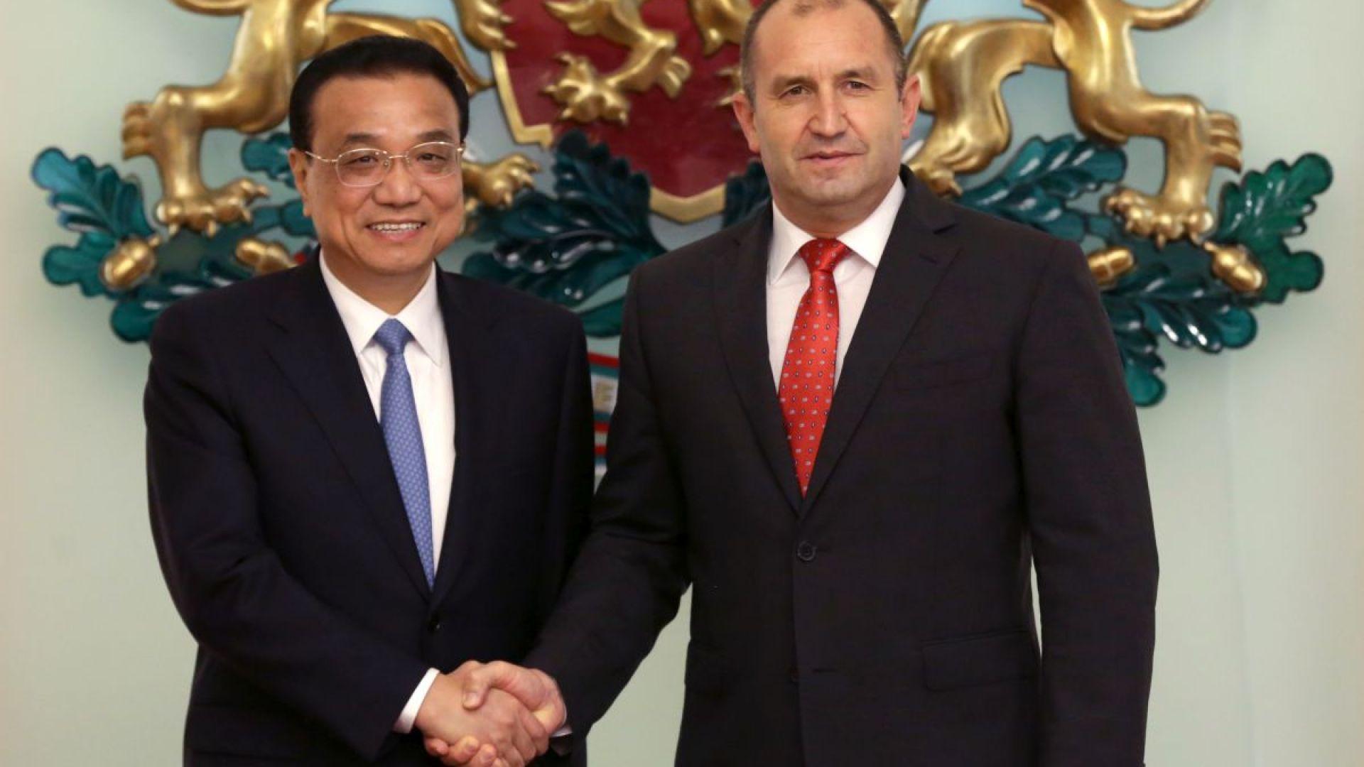 Президентът настоя за повече китайски инвестици пред Ли Къцян