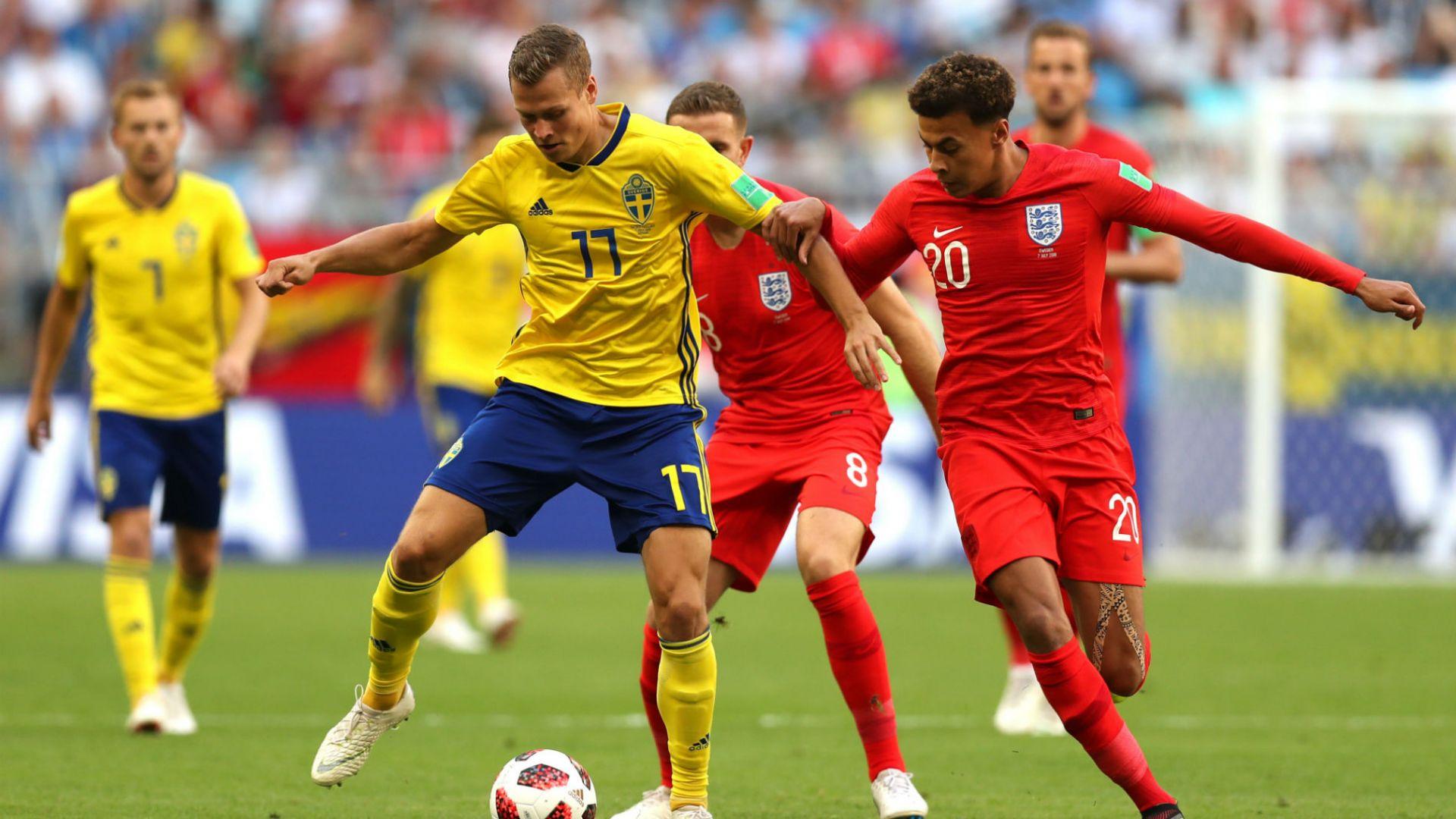 Швеция - Англия 0:2 (статистика)