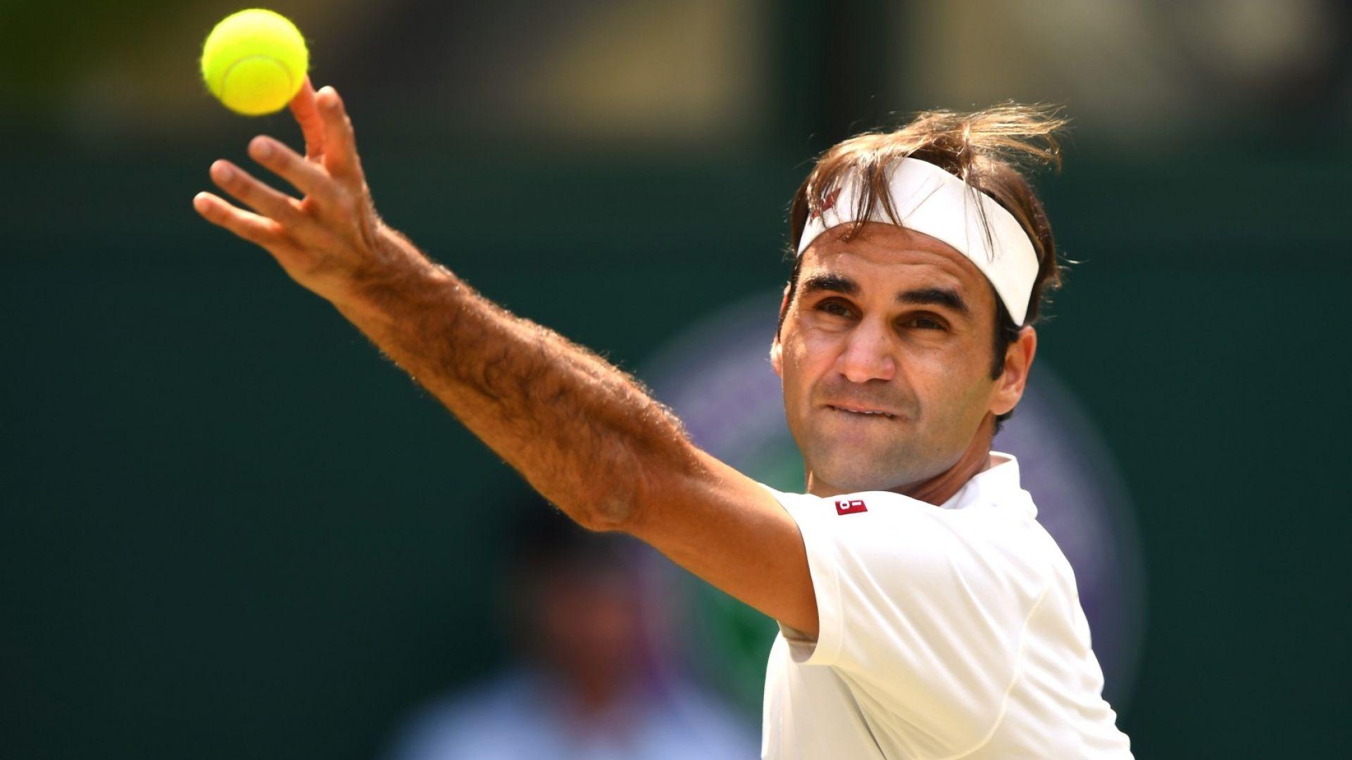 Федерер загря със сет за 16 минути и е на четвъртфинал
