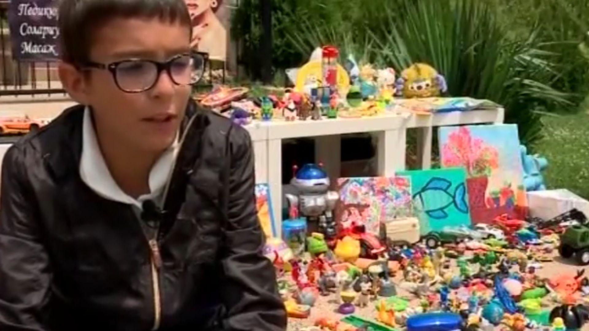 Деца продават ирачките си, събират пари за приюта в Богров