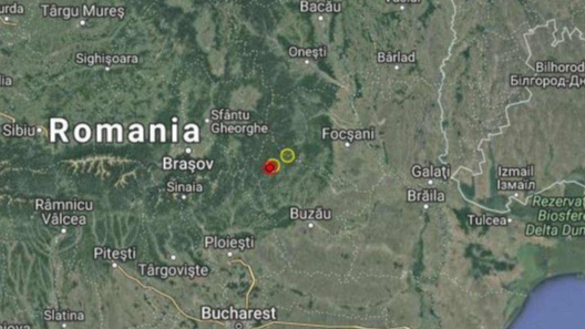 Вранча се разтресе, земетресение от 3,4 по Рихтер в Румъния