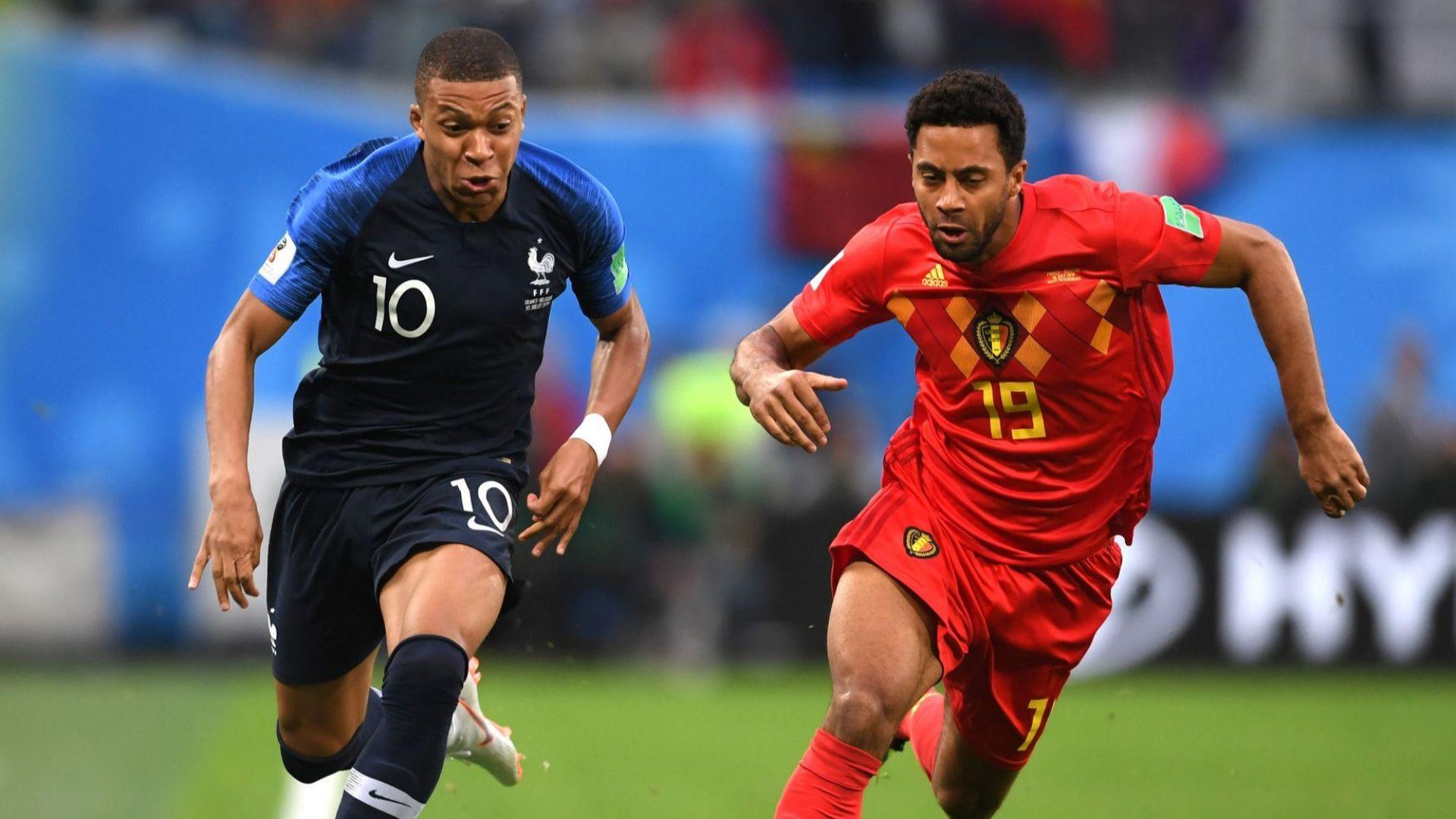 Франция - Белгия 1:0 (статистики)