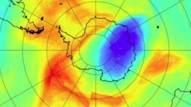 Озоновата дупка над Антарктида се затвори