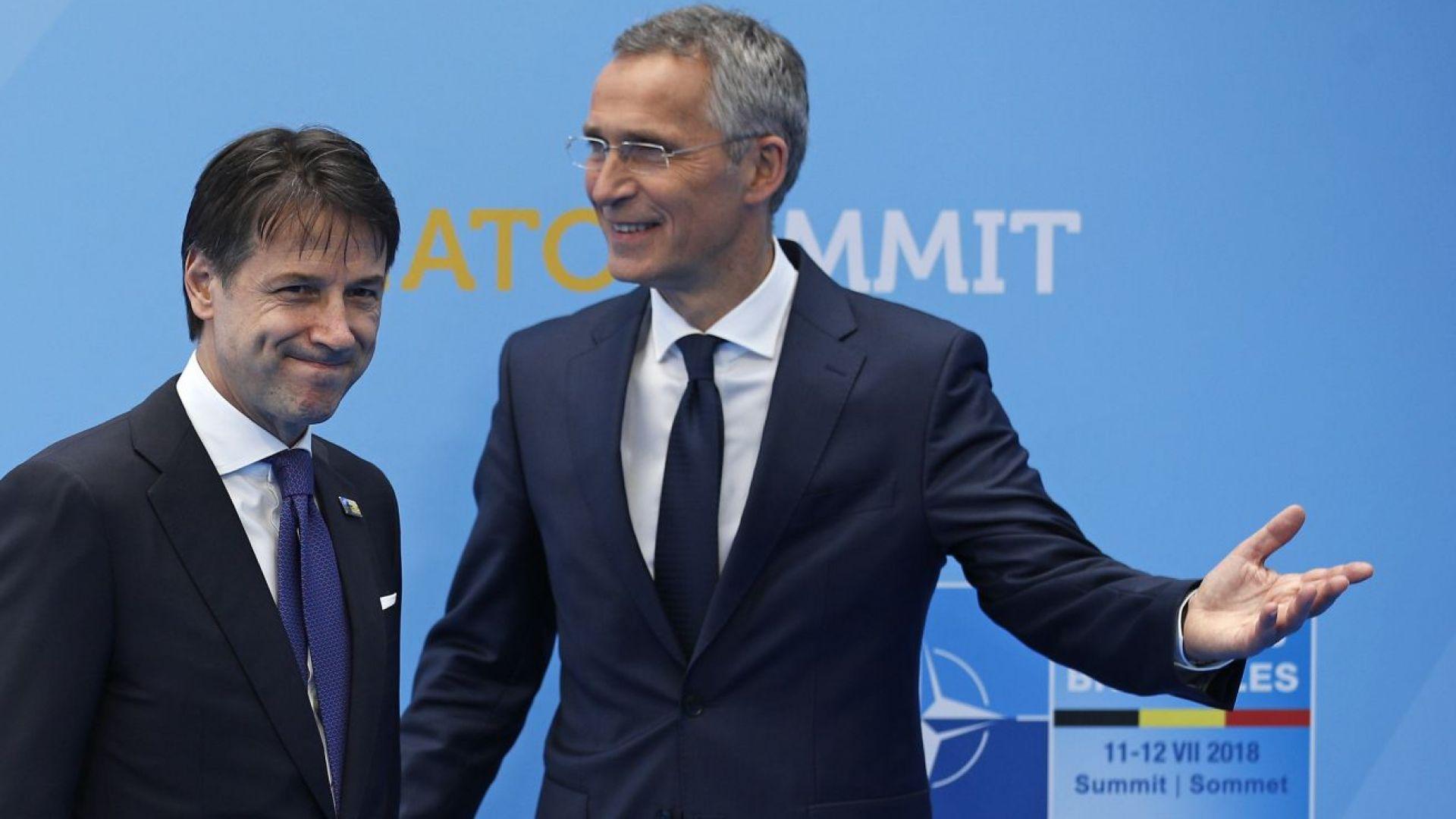 Италия не е обещавала да увеличи разходите си за отбрана, каза премиерът Конте