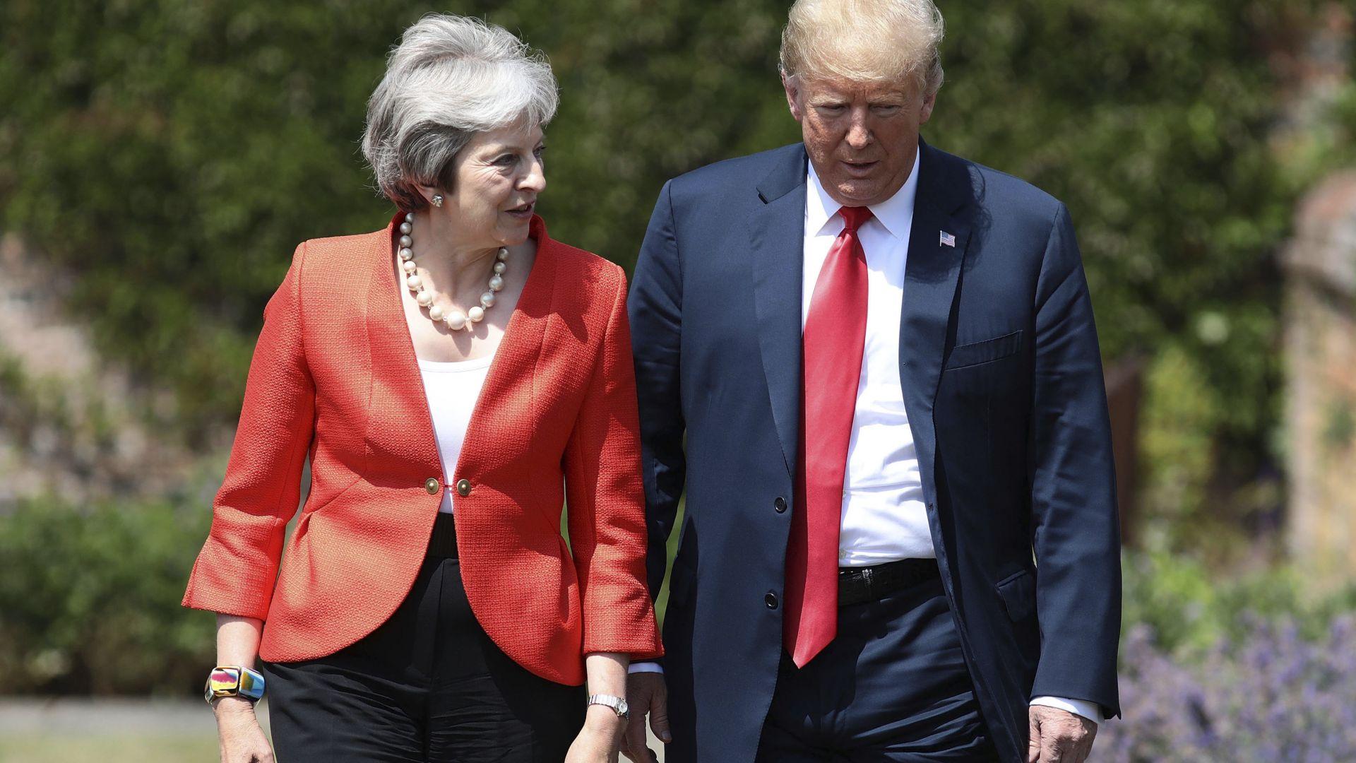 Тръмп и Мей се разбраха за търговско споразумение след Брекзит