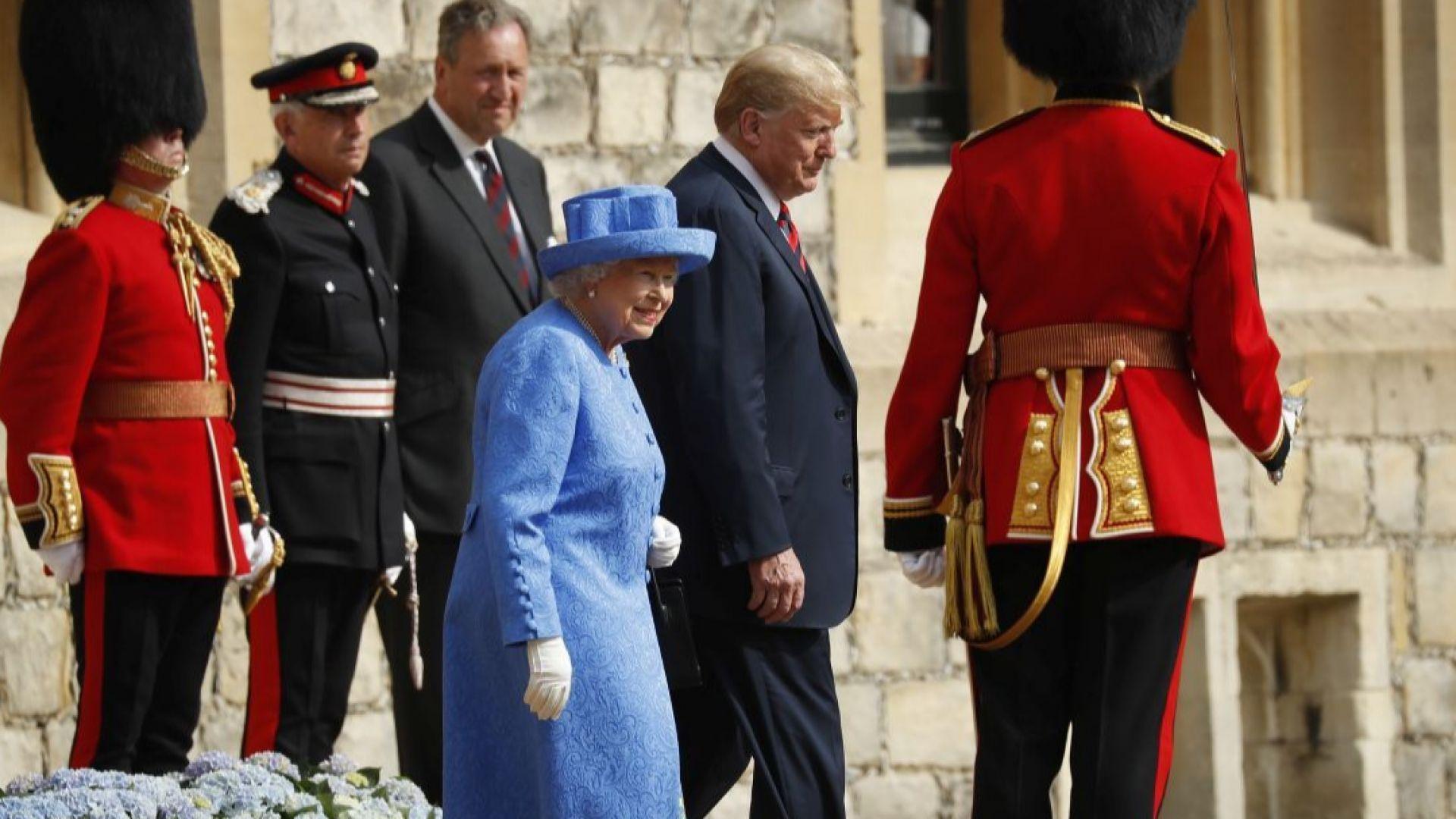 Кралица Елизабет II прие Доналд Тръмп на чай в замъка Уиндзор (снимки)