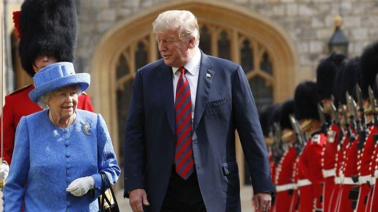 Елизабет II прие Доналд Тръмп на чай в Уиндзор (снимки)