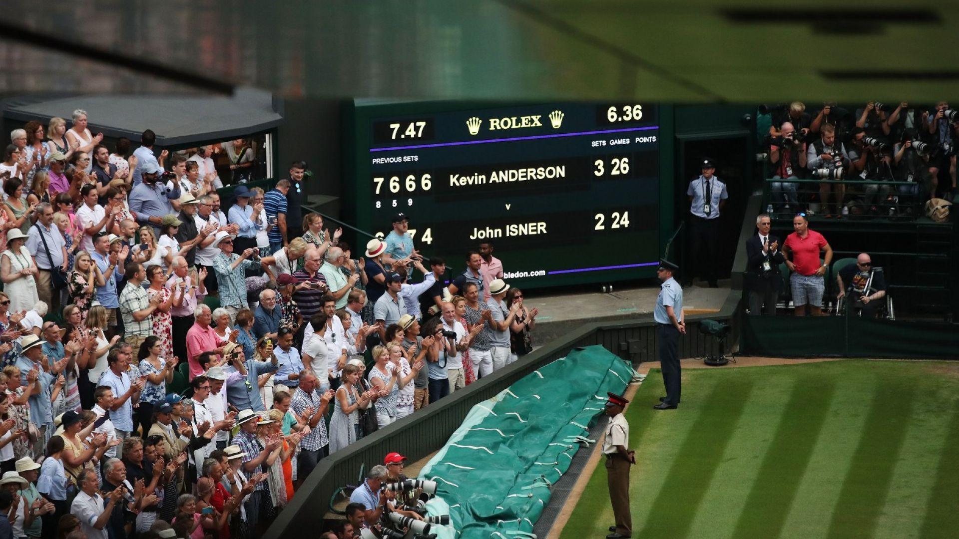 Шест часа и половина, 99 гейма, 102 аса - Кевин Андерсън е на финал!