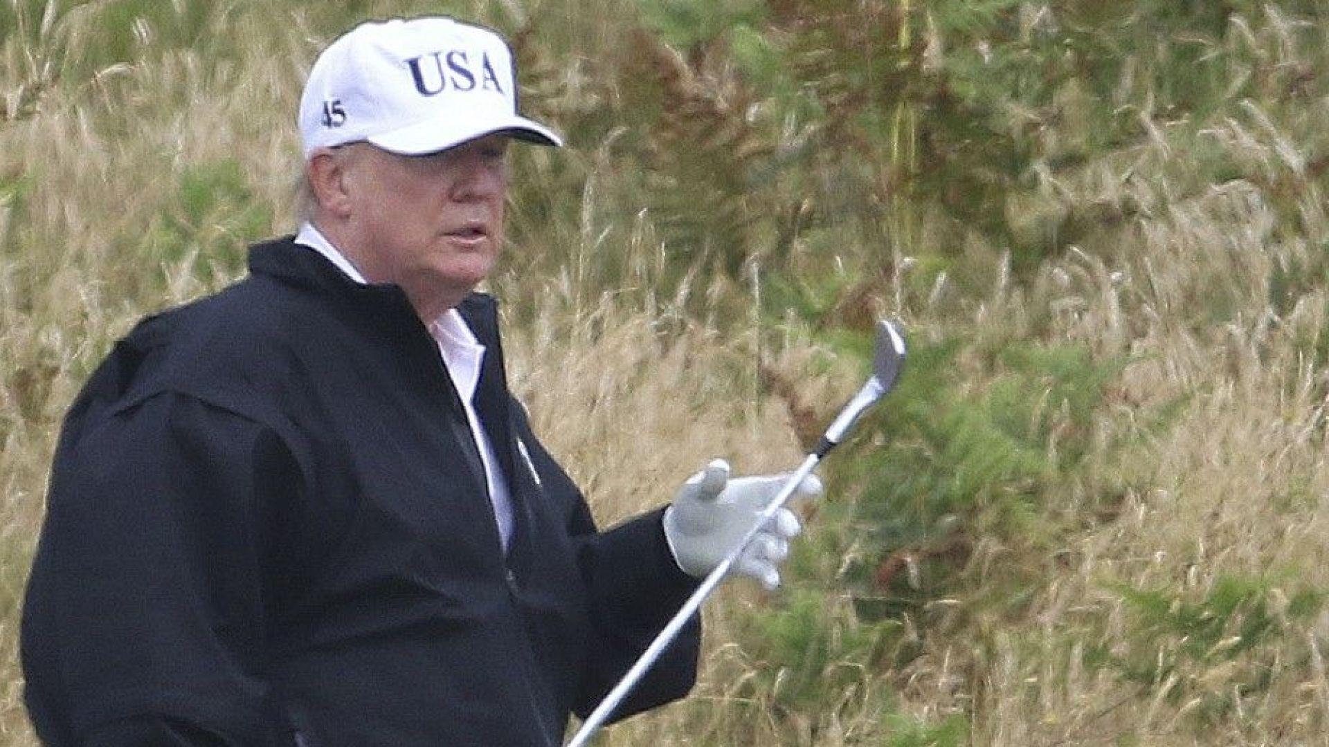 Голф игрище на Тръмп унищожило дюни в Шотландия