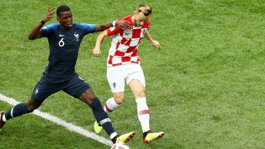 Франция - Хърватия 4:2 (статистика)
