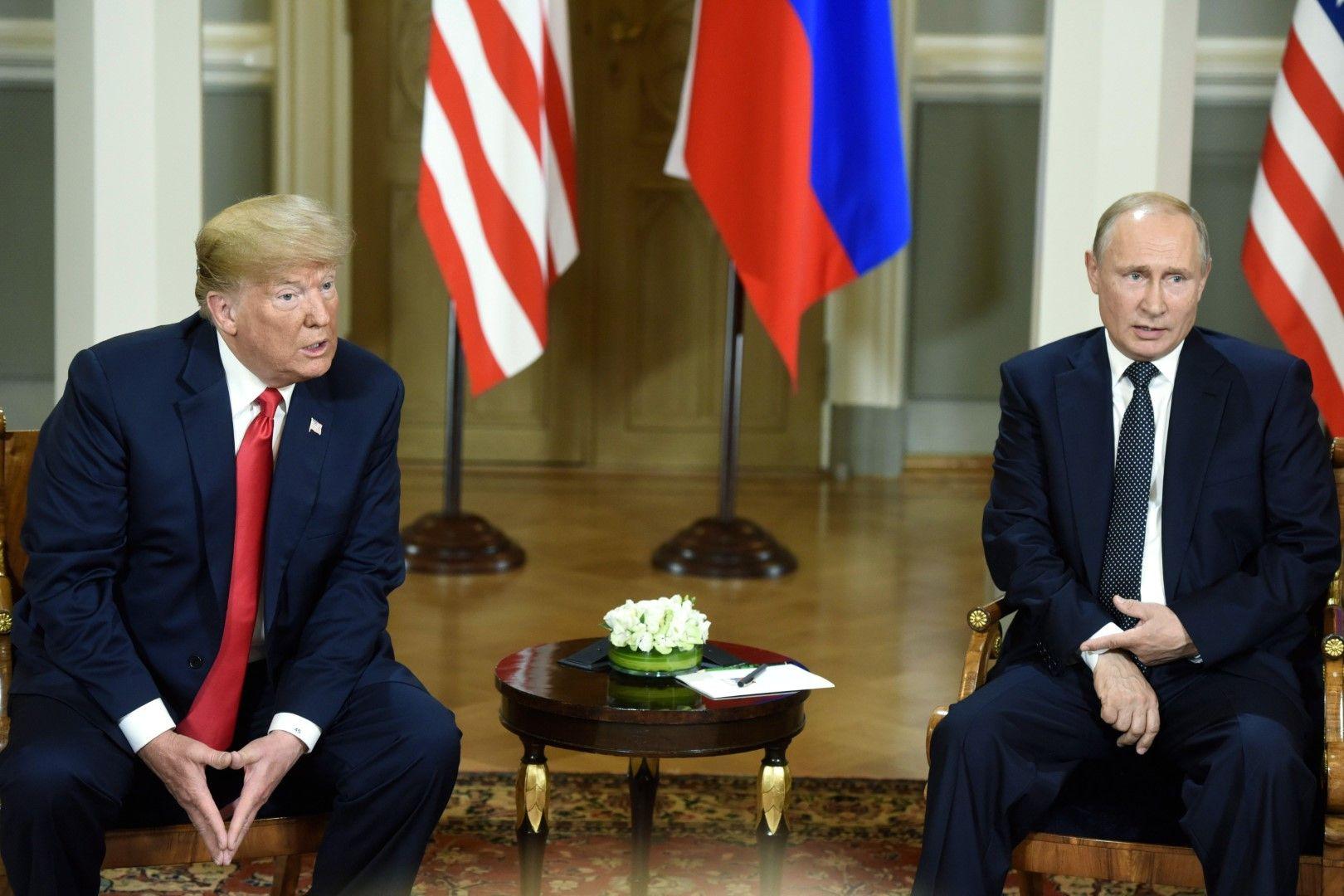 Американският президент Доналд Тръмп и руският президент Владимир Путин