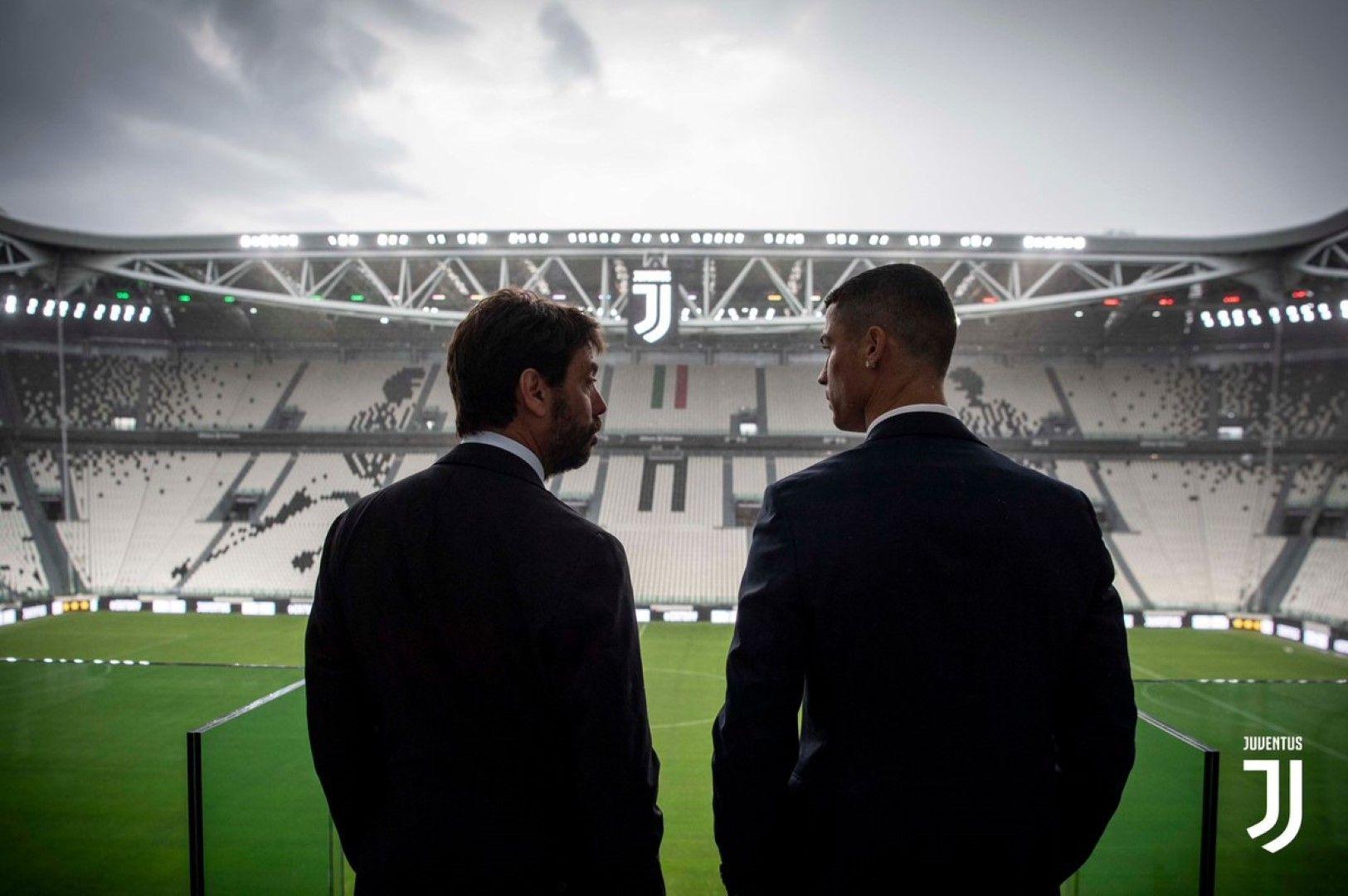 Андреа Аниели и Кристиано Роналдо.