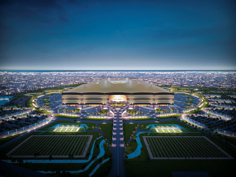 Al Bayt Stadium в град Ал-Кор. Тоест, как ще изглежда...