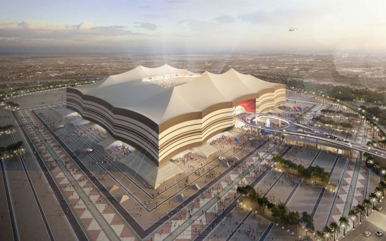 Al Bayt Stadium в град Ал-Кор
