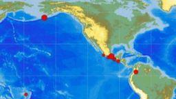 Две силни земетресения в Северна Америка днес
