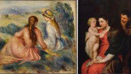 Откриха двете откраднати картини на Рубенс и Реноар