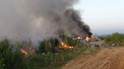Пламнало сметище до Кочериново може да блокира АМ Струма