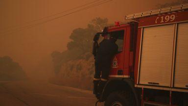 Горски пожар бушува в района на Атика в Гърция, няма засегнати българи