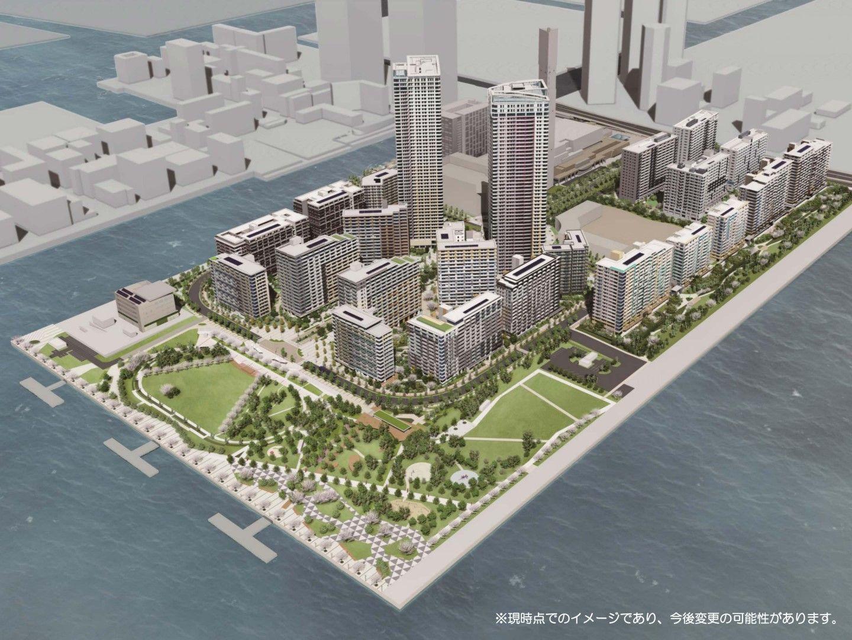 Олимпийското село на спортистите в Харуми по план след 2 години ще изглежда така.